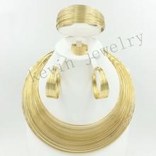 2016 boda en Dubai está lleno de joyas de oro Africano conjuntos de granos de la joyería 18 K chapado en oro de alta gama femenina encanto clásico diseño
