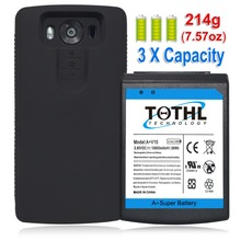 High capacity 10800mAh For LG V10 H961N H900 VS990 H901 BL-45B1F A+ Super Extended Battery + HoneyComb Extended TPU Case
