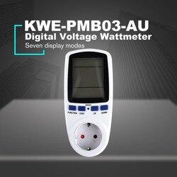 KWE PMB01 gniazdo cyfrowy watomierz pobór mocy Watt licznik energii AC analizator energii elektrycznej Monitor ue US UK AU Plug w Liczniki energii od Narzędzia na