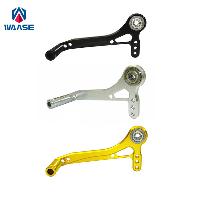 waase Motorcycle Adjuster Gear Shifter Shift Lever Pedal with Toe Pegs Toepeg Kit For Rearset Rear Set Replacement Spare Parts