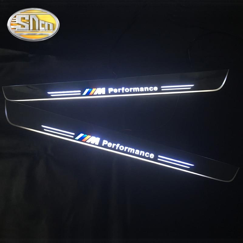 SNCN imperméable à l'eau acrylique mobile LED bienvenue pédale voiture plaque de seuil de porte pédale voie lumière pour BMW Z4 E89 2009-2012 2013