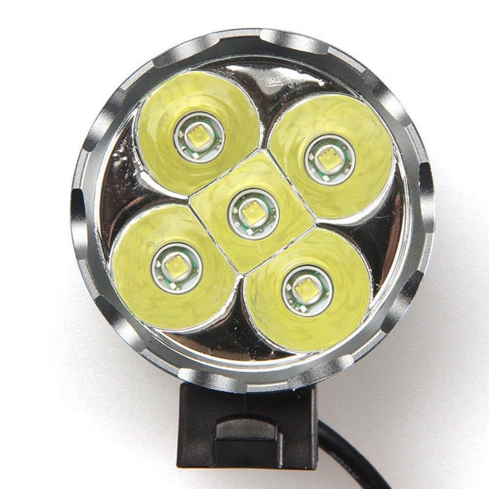 Təhlükəsizlik suya davamlı 5000Lm 5x XM-L U2 LED Velosiped - Velosiped sürün - Fotoqrafiya 2