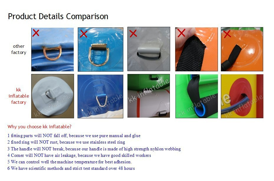 kk inflatable product detail comparision-water game