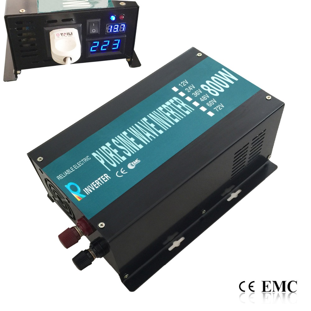 цена на CE EMC Approved Off Grid 800W 12V 24V 48V DC To 100V 110V 120V AC Or 220V 230V 240V AC Pure Sine Wave Power Inverter