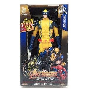 30 см супер герой X-man Росомаха, Логан, светодиодный светильник, Музыкальная фигурка, куклы, игрушки, ПВХ, фигурка, Коллекционная модель игрушк...