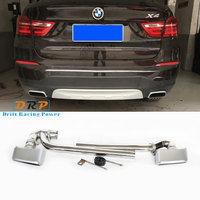 Muffler pipe tail throat Stainless Steel Modified Car Exhaust with square mouth Porsche Cayenne style for BMW X3X4