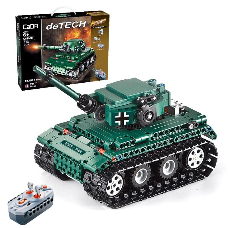 313pcs German King Tiger Tank Building Blocks Bricks Sets World War 2 WW2 Military Army Armored