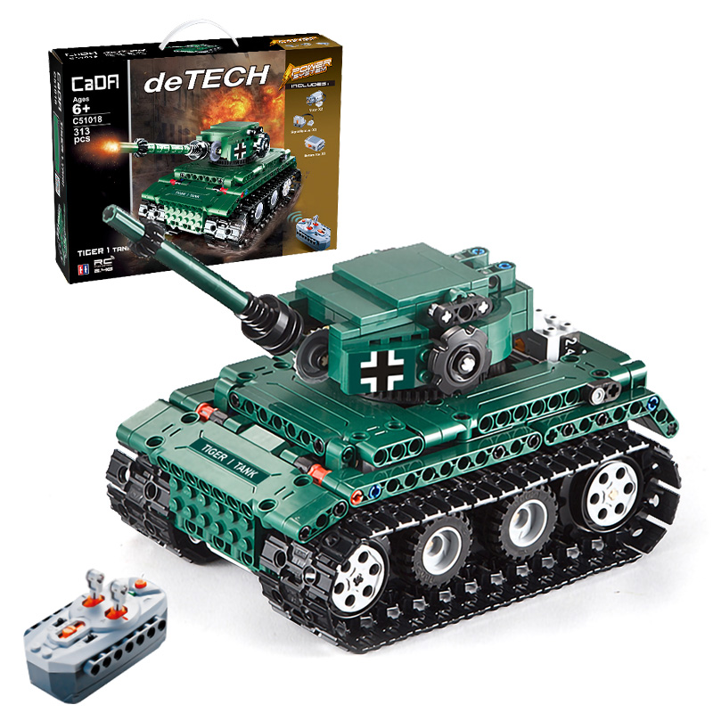 313pcs German King Tiger Tank Building Blocks Bricks Sets World War 2 WW2 Military Army Armored RC Crawler Soviet Tanks Toys