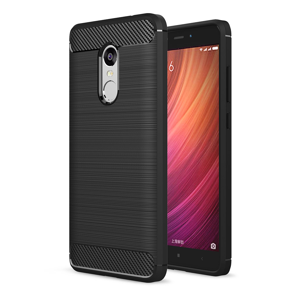 Carbon Fiber Resilient Rugged Armor Cover Case For Xiao Mi 4s 5 5s Plus Max Xiaomi Redmi Note 3