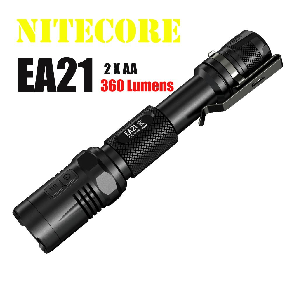 2015 New NiteCore EA21 360LMS CREE XP-G2 (R5) LED Waterproof Flashlight ,lantern,torch,led lamp By 2*AA Battery Freeshiping nitecore ec21 waterproof 460lm 7 modes xp g2 r5 led light lamp 18650 cr123 torch flashlight not battery