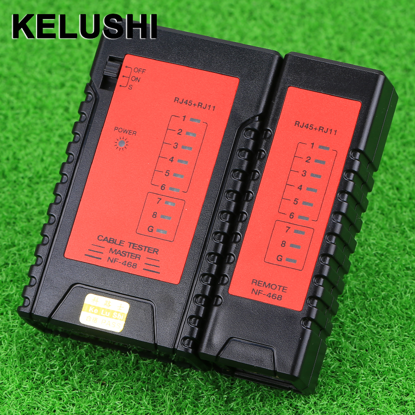 KELUSHI NF-468 Network / Telephone RJ11 / RJ45 Cable Tester - Upgraded design with Fast/Slow Two Scan Models