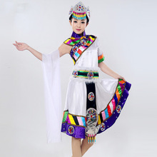 Tibetan dance festival performances Yunnan minority costumes art Costume