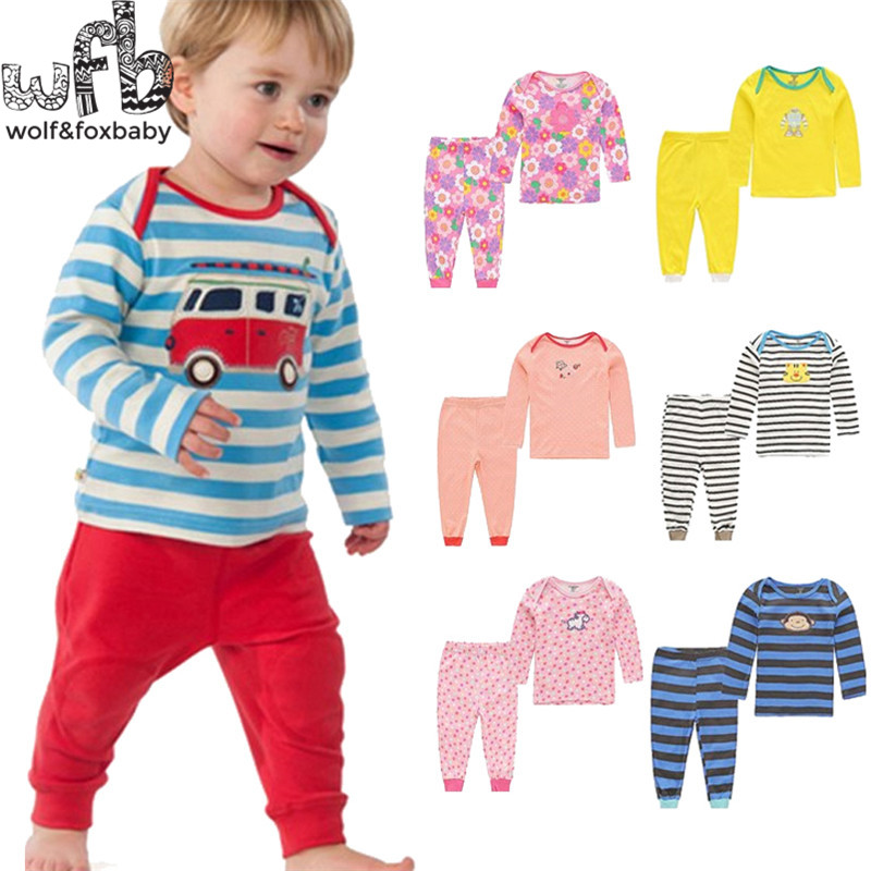 Retail 2set/pack 0-24months long-Sleeved t shirt+long PP pants Baby Infant newborn clothes for boys girls Clothes spring fall retail 3pcs pack 0 12months long sleeved baby infant cartoon footies bodysuits for boys girls jumpsuits clothing newborn clothes