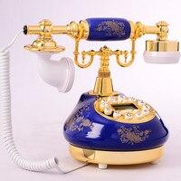 אירופאי קרמיקה ינהואה כחול עתיק רטרו טלפון שיחה מזוהה טלפון