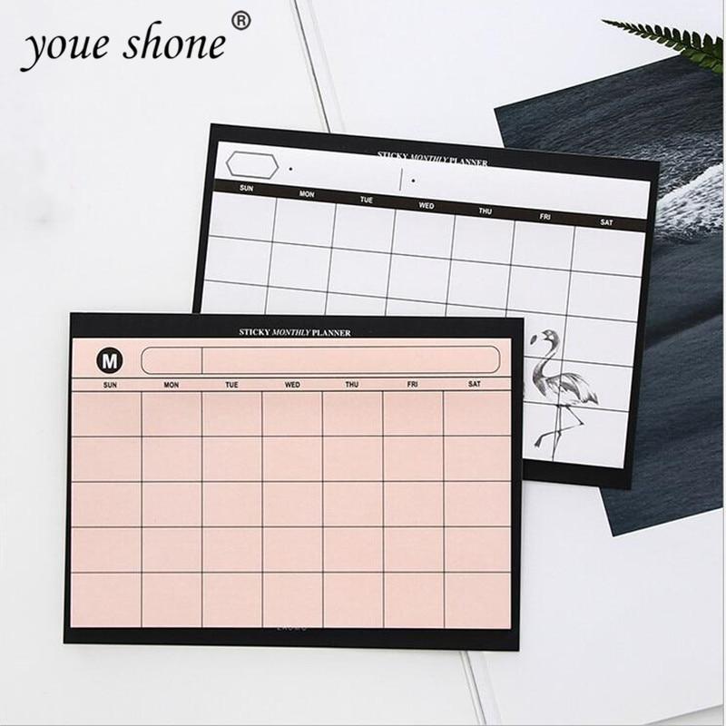 1PCS =30SHEET Creative Simple Weekly Planner Book Desktop Schedule Month Plan Tear The Notebook Work Efficiency Summary Plan