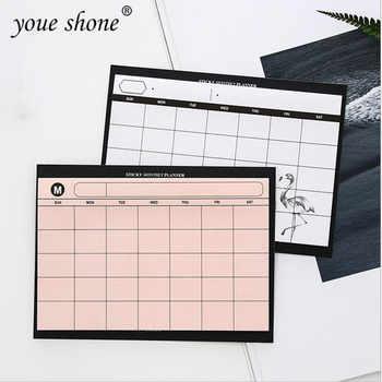 1 piezas = 30 hojas creativa simple planificador semanal libro de escritorio calendario mes plan rasgar el resumen de eficiencia del trabajo del cuaderno plan