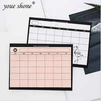 1 szt. = 30 arkuszy prosty terminarz tygodniowy plan pulpitu plan miesięczny łza plan wydajności pracy notebooka