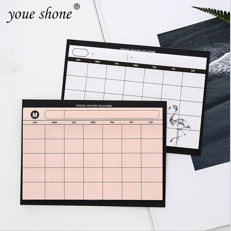 1PCS =30SHEET Creative Simple Weekly Planner Book Desktop Schedule Month Plan Tear The Notebook Work Efficiency Summary Plan