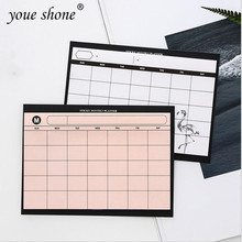 цены 1PCS =30SHEET Creative simple weekly planner book desktop schedule month plan tear the notebook work efficiency summary plan
