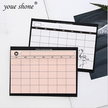 1PCS =30SHEET Creative simple weekly planner book desktop schedule month plan tear the notebook work efficiency summary plan(China)