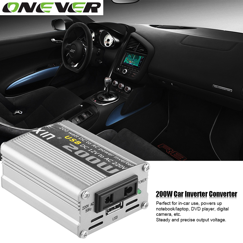 Prix pour 12 V DC à AC 220 V 50 HZ Voiture Auto Puissance Sinusoïdale Pure onduleur Convertisseur Adaptateur Adaptateur 200 W USB Chargeur De Voiture 400 W Puissance de Crête 1 PCS