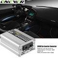 12 V DC para AC 220 V 50 HZ Senoidal Pura Potência do Carro Auto Adaptador Conversor inversor Adaptador 200 W USB Carregador de Carro 400 W de Potência de Pico 1 PCS
