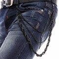 El Rey de 2016 Nuevos hombres de 3 Hilos de Metal Negro Cuerda Giro Pantalones de la cadena Llavero Billetera Cadena de Los Pantalones Vaqueros de Hip Hop Cadena de La Correa J13