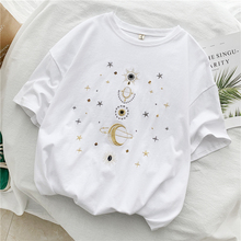 2019 Summer Women Graphic Embroidered T-shirt Cec Short Sleeve Female Korean Loose Tees Tops Harajuku Ulzzang  Camisas Mujer