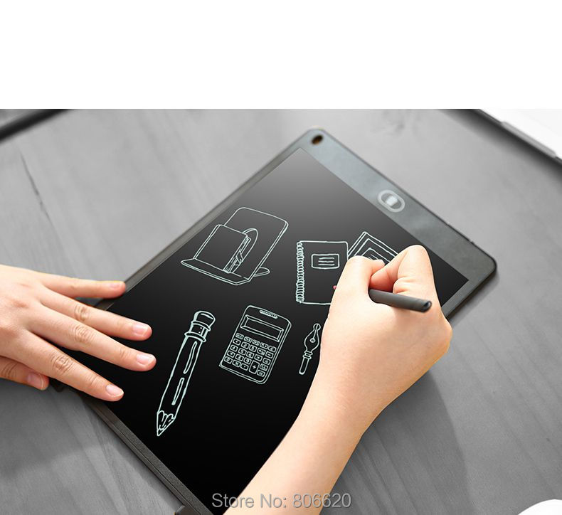 8.5inch Magnetic Handwriting Board LCD Writing Tablet for Writing calligraphy Painting Copy Calculus Draft with One Button Erase_13