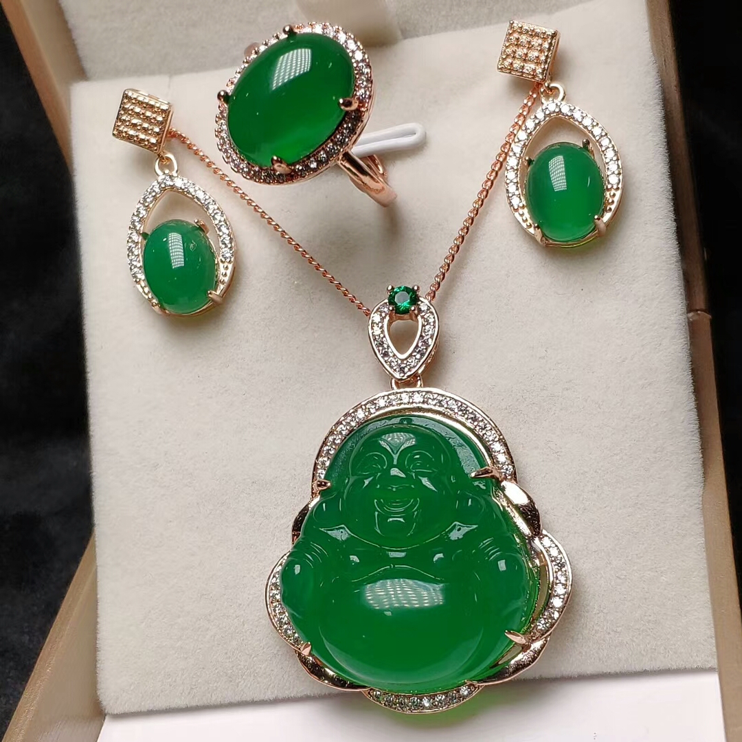 UK Gorgeous S925 silver jewellery set earrings /& pendant necklace