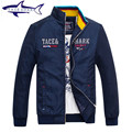 2016 New Fashion Brand Tace Shark Mens Jacket Shark Logo Patchwork Korean Slim Fit Mens Designer Clothes Men Cotton Jacket