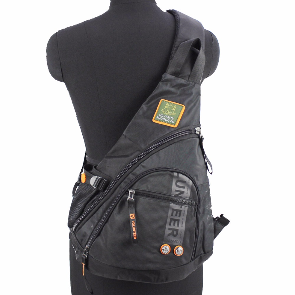 Տղամարդիկ Oxford Sling Knapsack Shoulder Messenger կրծքավանդակի պայուսակ Laptop Kettle Travel Assault Single Back Pack Cross Body Trekking Bags
