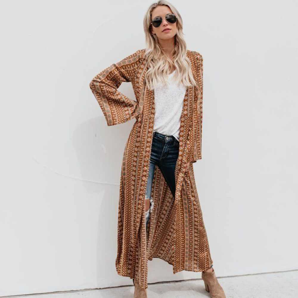 Плюс Размеры 2018 Летний стиль Для Женщин Кимоно Кардиган с длинным рукавом шифон свободные сетки блузка кимоно футболки S-XL длинные пляжный топ