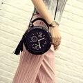 Женщины Кожи Плеча Сумки Часы Модели Известного Мультфильма Круглый Стиль Мода 2016 Популярные Crossbody Кисти Горячие Продажа