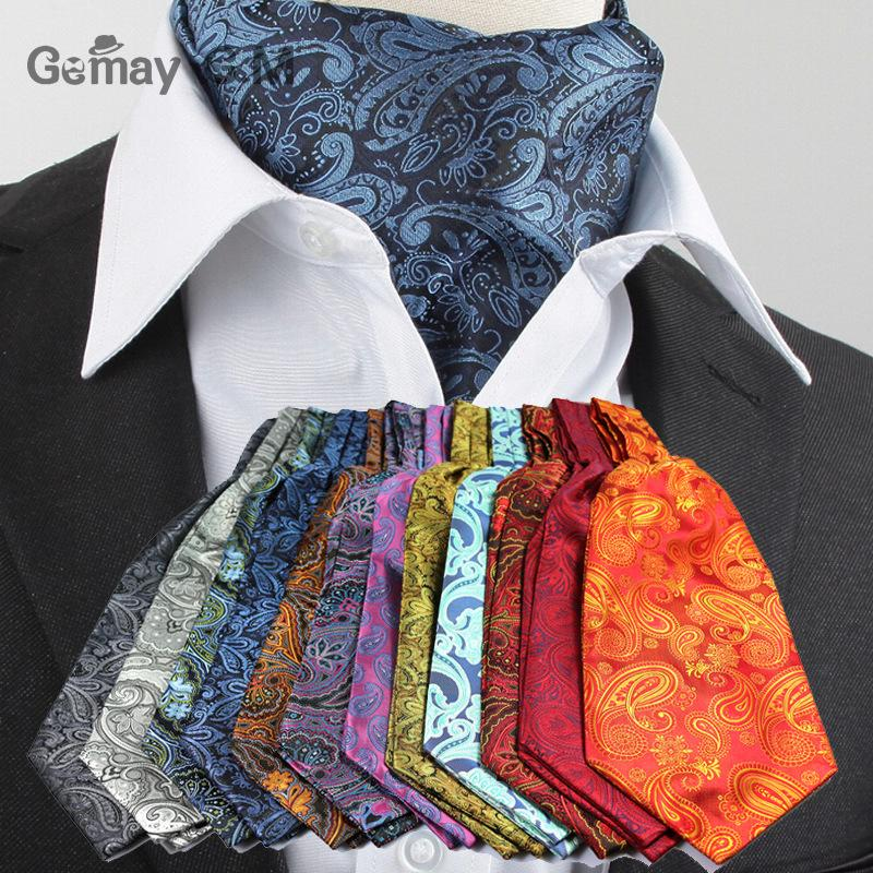 Gemay G.M Men Wedding Cravat Ascot Silk Neck Tie Luxury