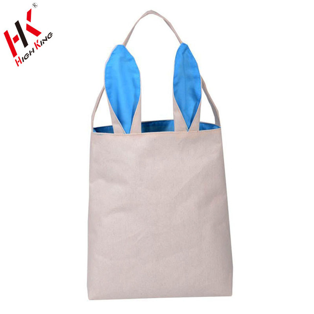 Aliexpress buy 10pieces easter gift bag cotton linen rabbit 10pieces easter gift bag cotton linen rabbit ear bag factory direct wholesale easter bunny party tote negle Image collections
