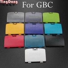 TingDong 1 pcs Para Nintendo Gameboy Color GBC Pacote Tampa Da Bateria Back Door Shell Substituição
