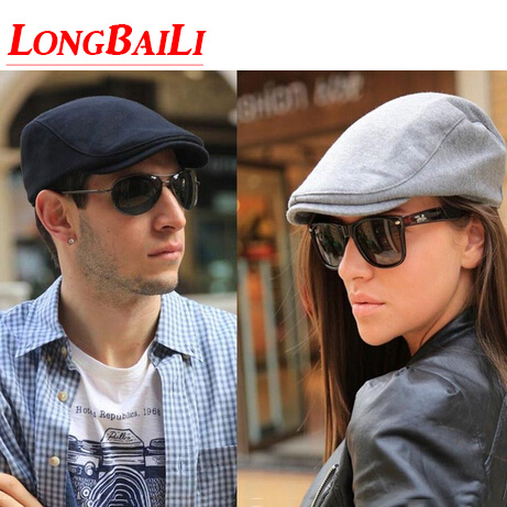 Autumn Plain Unisex Cotton French Beret Hats For Men Solid Color Women  Cabbie Flat Cap Female Free Shipping SHDB001 4b656bcb2b6