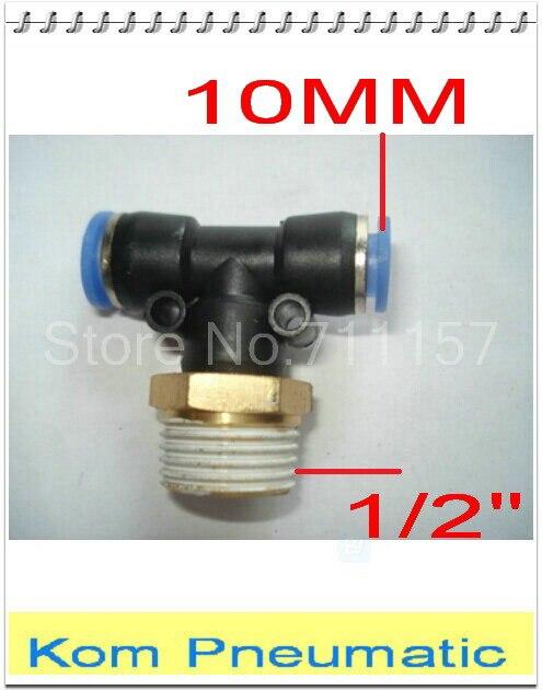 "Tubo neumático 4 Mm x 1//4/"" Bsp Thread Conector MacHo Tee rama Empuje Montaje"