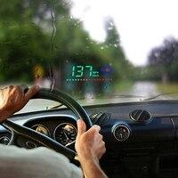 Compatível com Todos Os Carros Projetor Velocidade Na Brisa Head Up Display GPS HUD Excesso de Velocidade de Alarme Auto Velocímetro Digital