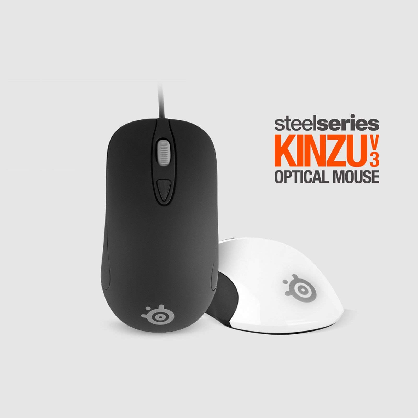 Brand NEW! Steelseries KINZU V3 Optical Gaming Wired Mouse Mice 4 Buttons Black & White 1pc new mouse wire mouse cable for steelseries kana v1 v2 kinzu v1 v2 v3 with free mouse feet