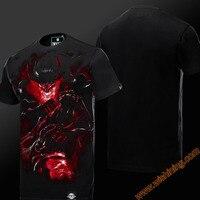 Прохладный LOL трэш футболка Карен Olaf футболка Для мужчин мальчик LOL Герой Презрение сторона Луны Диана Ноксус черный 3XL 4XL большой Размеры фу...