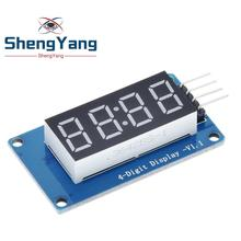 ShengYang-Módulo De Pantalla LED de tubo Digital de 4 Bits, con pantalla de reloj, TM1637, para Arduino Raspberry PI, 1 Uds.