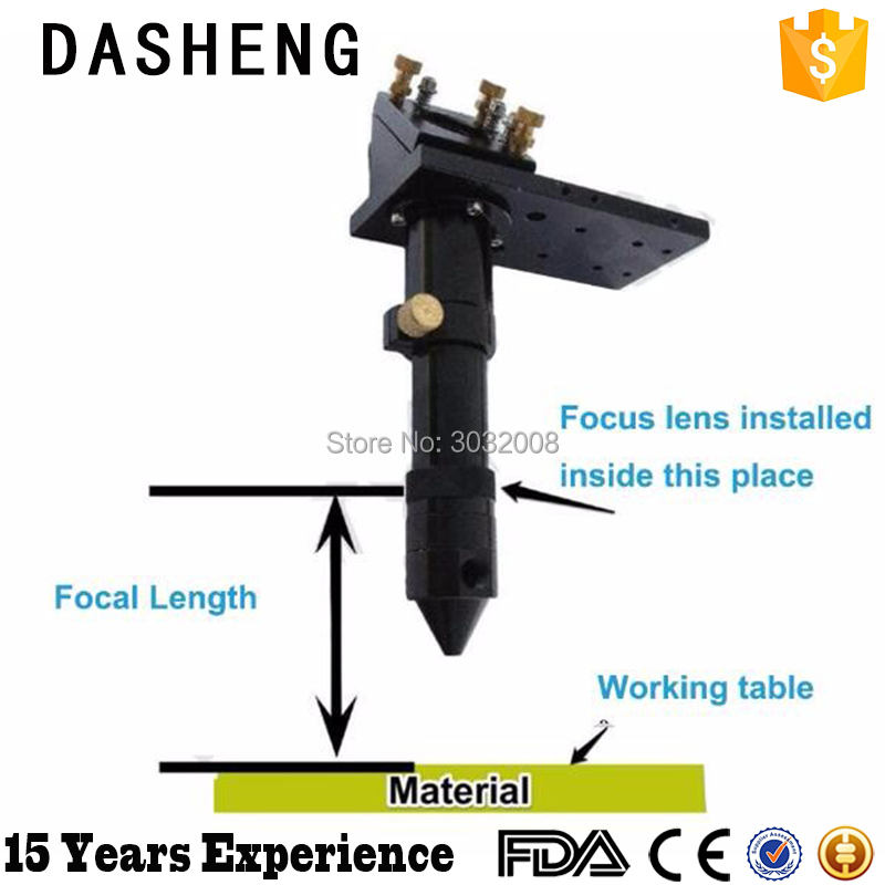 Laser machine mechanical parts laser head reflection mirror supporter available focus lens laser head kss 123a