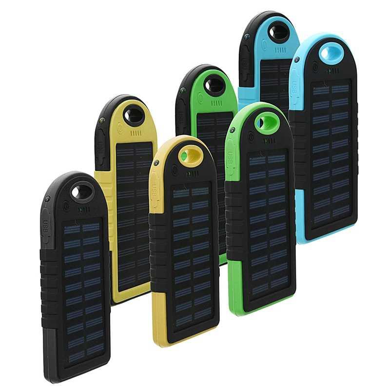 Cncool 8000 мАч солнечная панель power Bank Dual USB внешний аккумулятор зарядное устройство с зарядным кабелем для телефона планшета