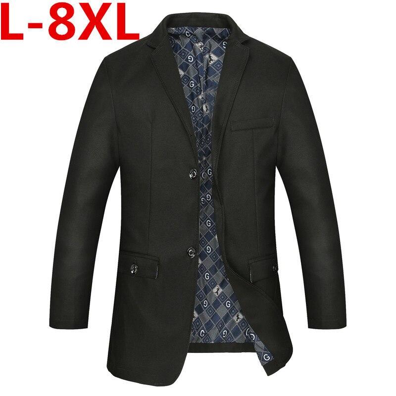 high quality new Plus size 9xl 8XL 7XL 6XL slim linen suit men's clothing suit male three button outerwear jacket high quality