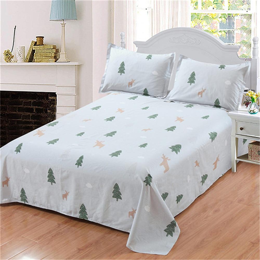 White Green Bedding Christmas Tree Plant Bed Set Soft