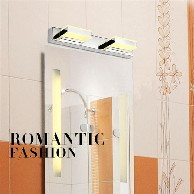 8W Modern LED Crystal Bathroom Mirror Sconces Light Over Front Lights Lamp Bath Wall Square