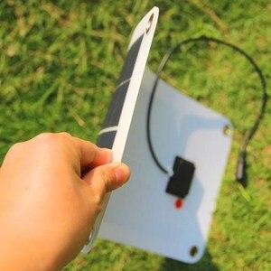 Image 2 - Claite 10.5 ワット 18 18v 多結晶ソーラーパネル充電器サンパワー太陽電池キャンプ車 12 v バッテリー 5 v 携帯電話 solarparts