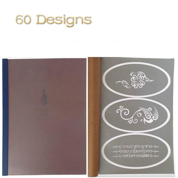 60 Designs Temporary Airbrush Tattoo Stencil Book Airbrush stencils Template Booklet  Book 20 direct heated stencils lga1155 cpu stencil template